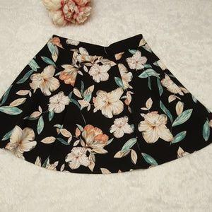 Floral Skater Style Skirt